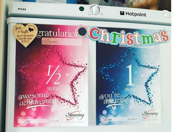 Chanel Slimming World awards on fridge-New year, new me-Slimming World blog