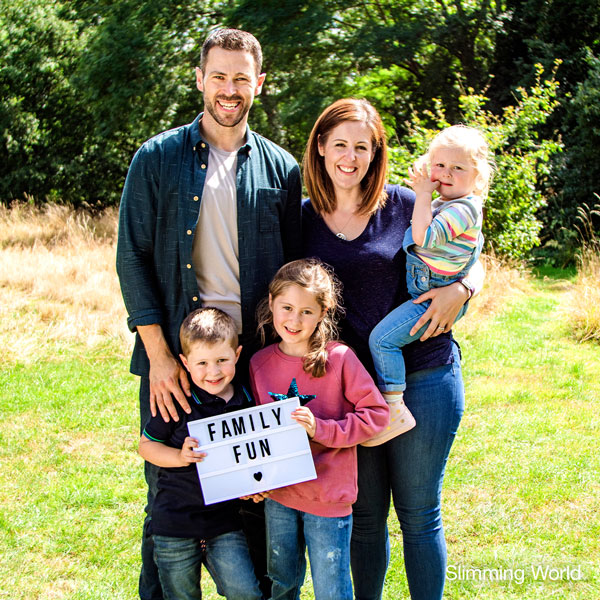 Ross Hebden with family - Sunshine Saturday - Slimming World blog
