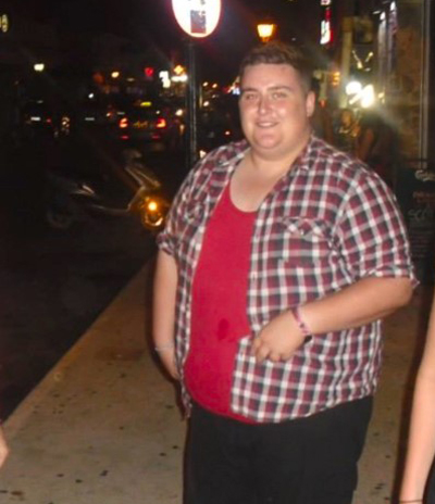 Aaron Snares before - Success story - Slimming World Blog