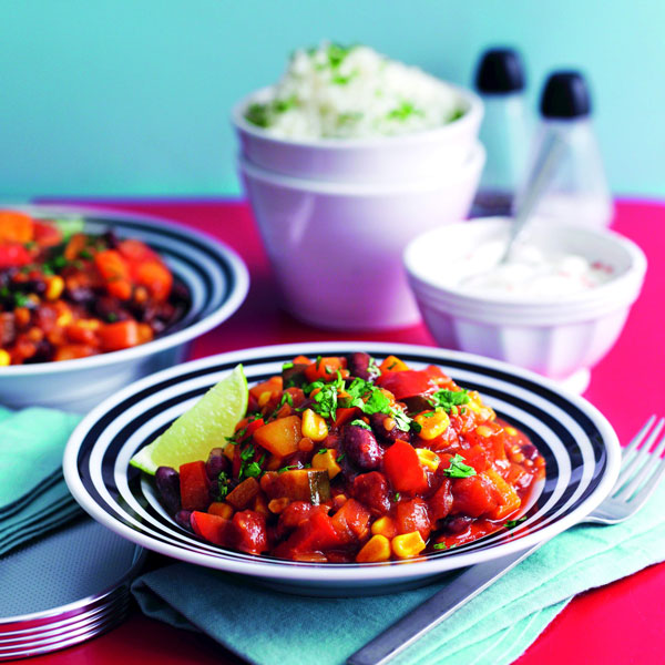 Veggie chilli with herby rice - Mother's Day - Slimming World Blog