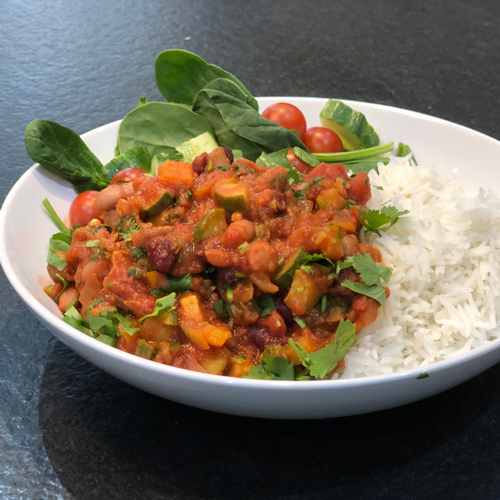 Vegetarian chilli-Father's Day menu-Slimming World blog