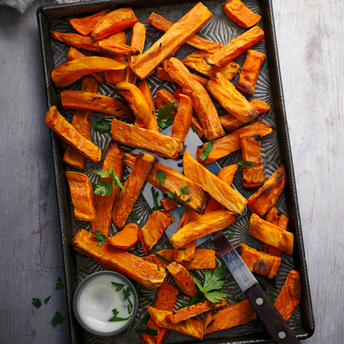 Sweet potato chips-Father's Day menu-Slimming World blog