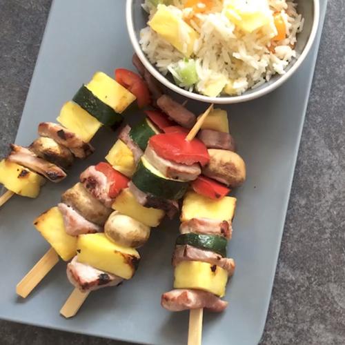 Gammon and pineapple skewers - Slimming World Blog