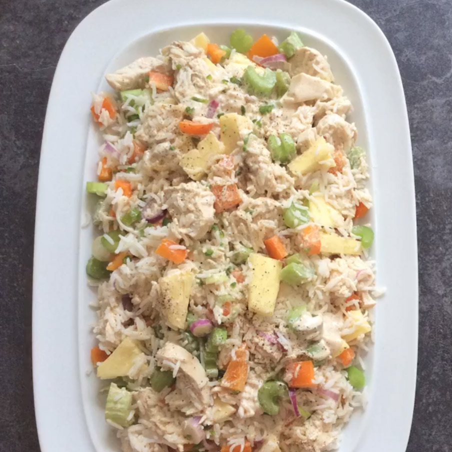 Spicy chicken rice and pineapple salad - Slimming World Blog