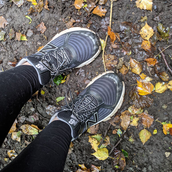 Grace muddy trainers-park the car-slimming world blog