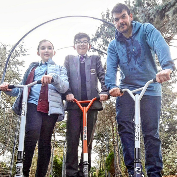 Ben Green on scooter-park the car-slimming world blog