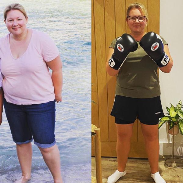 Sam weight-loss transformation-stress-busting activity-slimming world blog