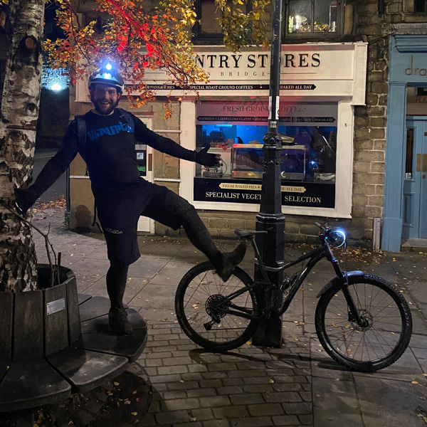 Danny with bike-believe in Body Magic this Christmas-slimming world blog