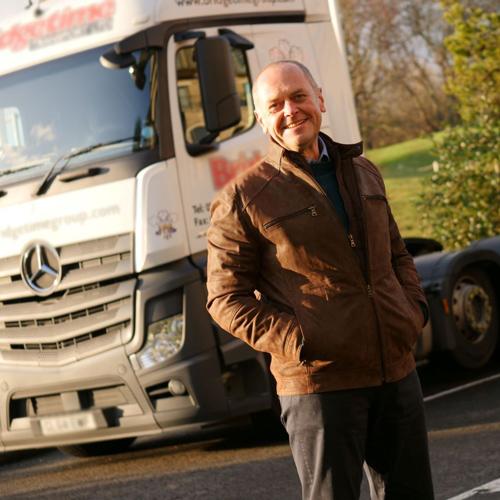 Jason Dury stood outside lorry-Jason Dury slimming success-slimming world blog