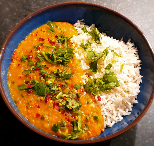 carrot and coconut dhal-vegan myths-slimming world blog