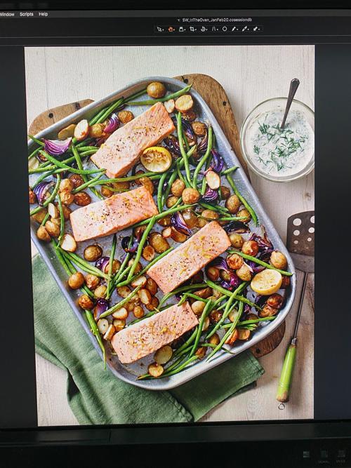 salmon and dill traybake-behind the scenes of slimming world magazine-slimming world blog