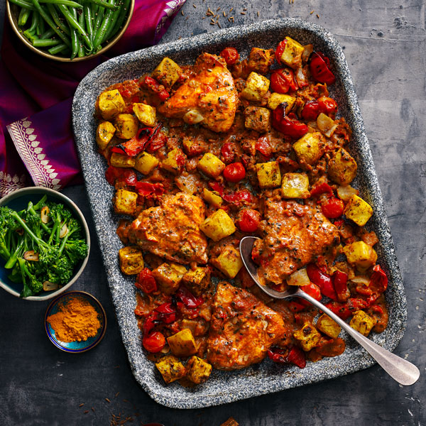 tandoori chicken tray bake-try our tray bakes-slimming world blog