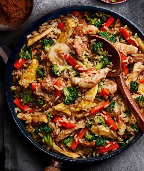 Chinese banquet rice in bowl-Slimming World Chinese-Slimming World blog
