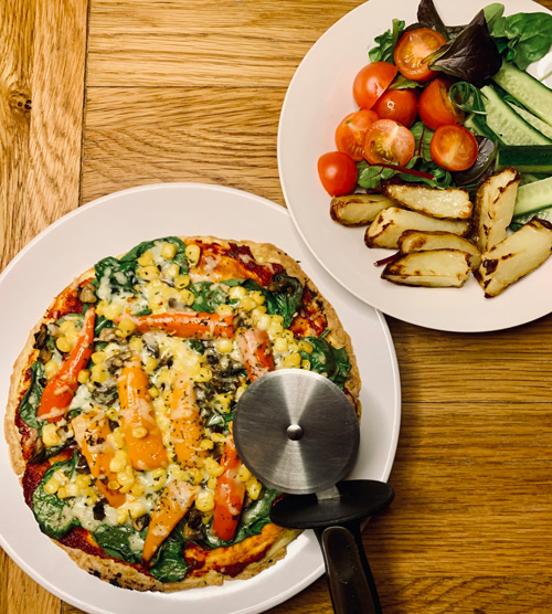 Mexican pizza omelette topping-pizza omelette-slimming world blog