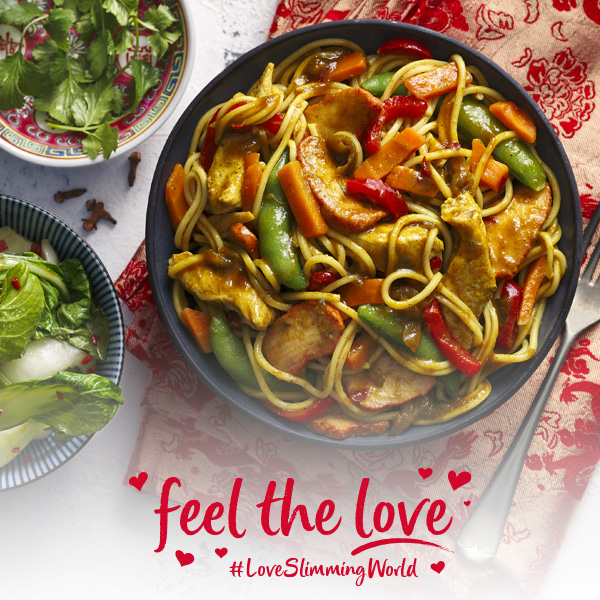 Slimming World Chinese singapore noodles in bowl