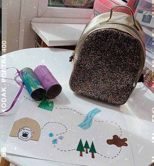 Children's bear hunt map