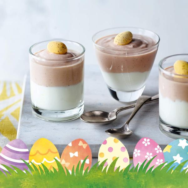 Slimming World mini egg chocolate mousses
