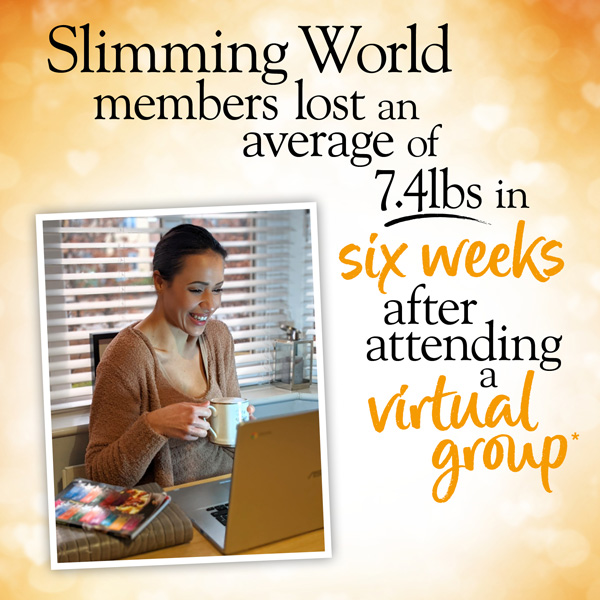 Slimming World members lost an average of 7.4 pounds in 6 weeks after attending a virtual group