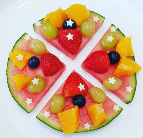 watermelon and fruit pizza