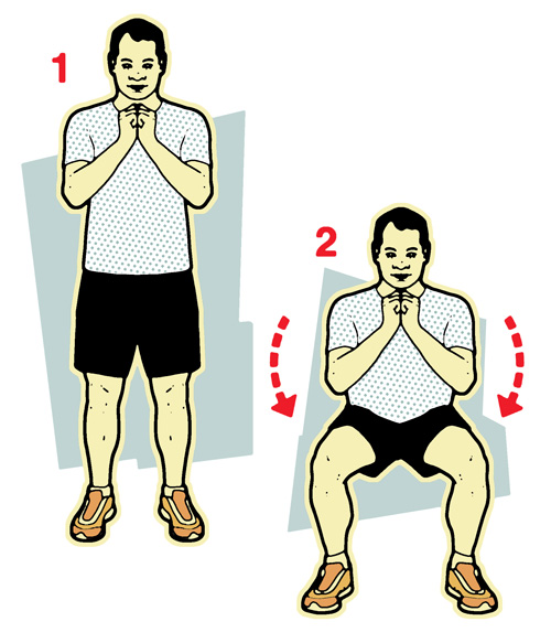 Side to side squats illustration-10-minute workout-slimming world blog