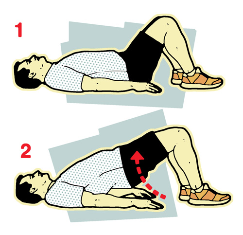 Pelvic bridge illustration-10-minute workout-slimming world blog