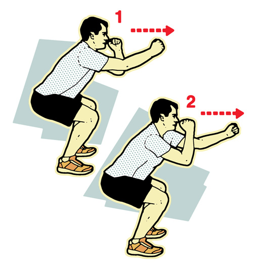 Shadow boxing illustration-10-minute workout-slimming world blog