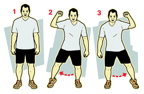 Half jumping jacks illustration-10-minute workout-slimming world blog