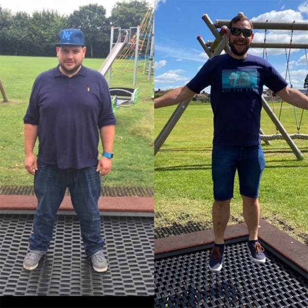 Danny weight loss transformation-active days out-slimming world blog