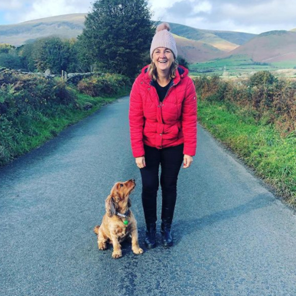 Sue and dog walking-Body Magic you can start today-slimming world blog