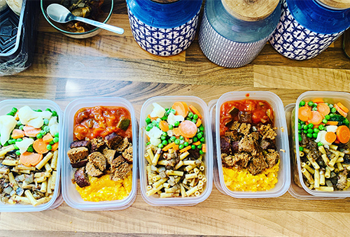 Slimming World lunches prepared for the week