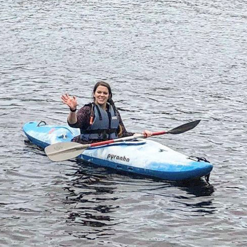 Molly kayaking-active days out-slimming world blog