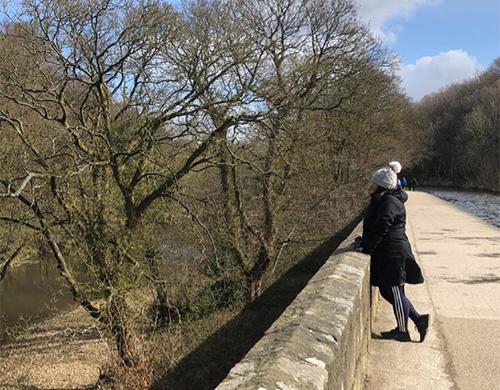 Shagufta walking on bridge-Body Magic you can start today-slimming world blog