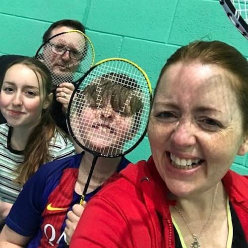 Slimming World member playing badminton