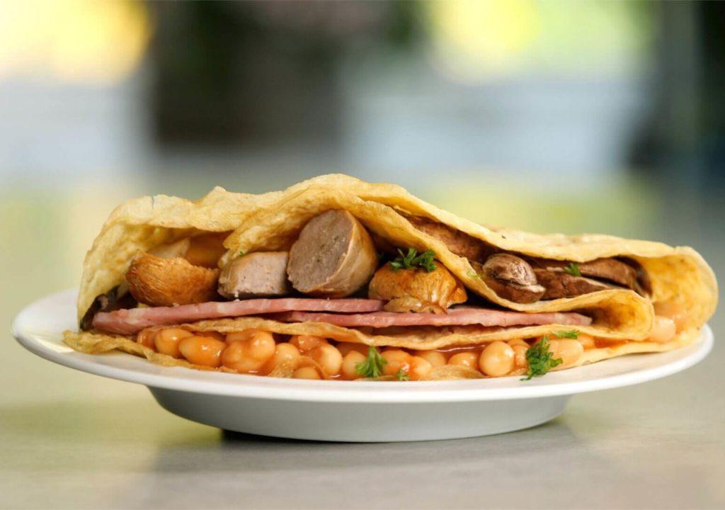 sausage-bacon-mushroom-beans-tortilla-style-wrap-slimming-world-blog