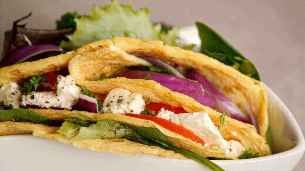 Smoked salmon wrap in bowl-tortilla-style wrap-slimming world blog