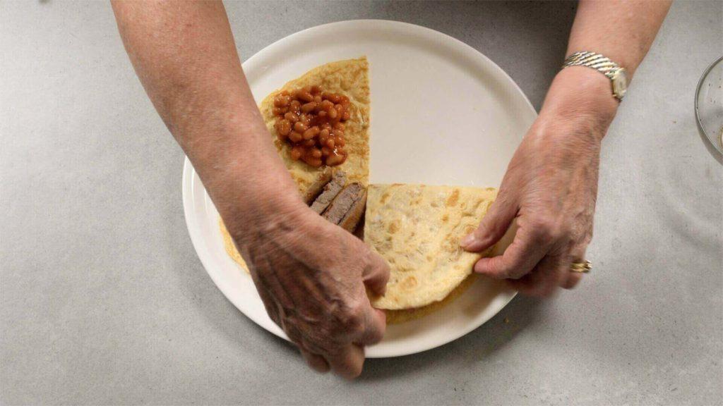 Folding omelette wrap-tortilla-style wrap-slimming world blog