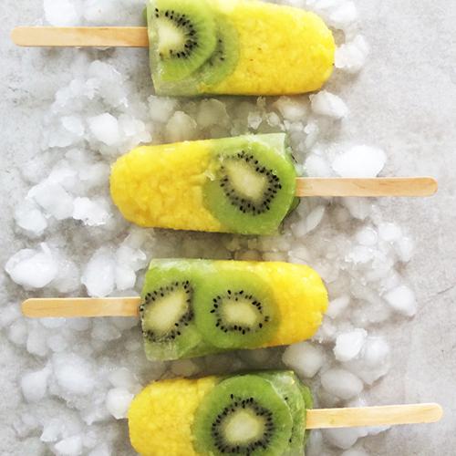 Slimming World kiwi and pineapple lollies