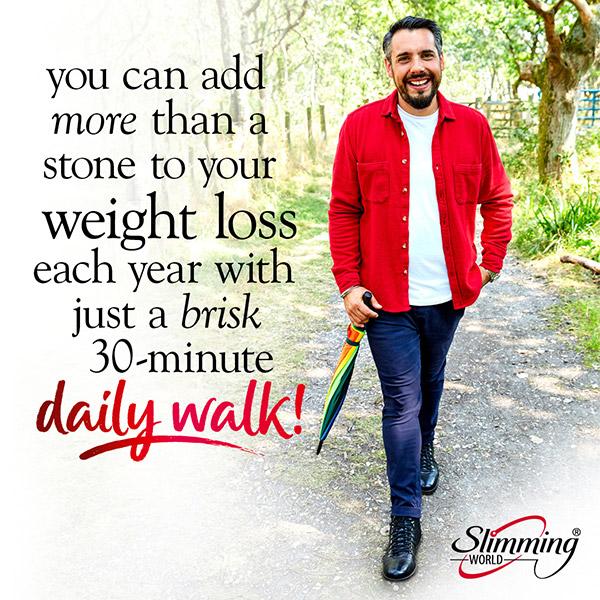 Slimming World member walking