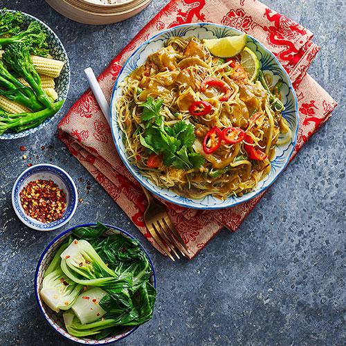 Singapore noodles-Slimming World food range curry sauce