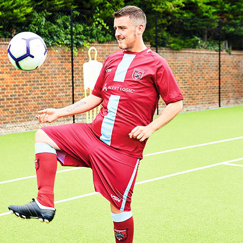 Aaron kicking football-16st weight loss-slimming world blog