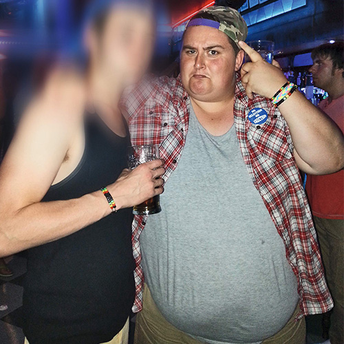 Aaron before photo at party-16st weight loss-slimming world blog