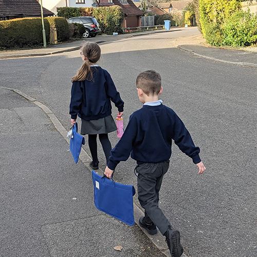 Children walking to school-Freedom to get active your way-Slimming World blog
