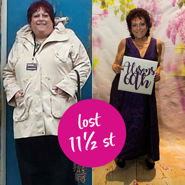 Slimming World member Alison Berry transformation