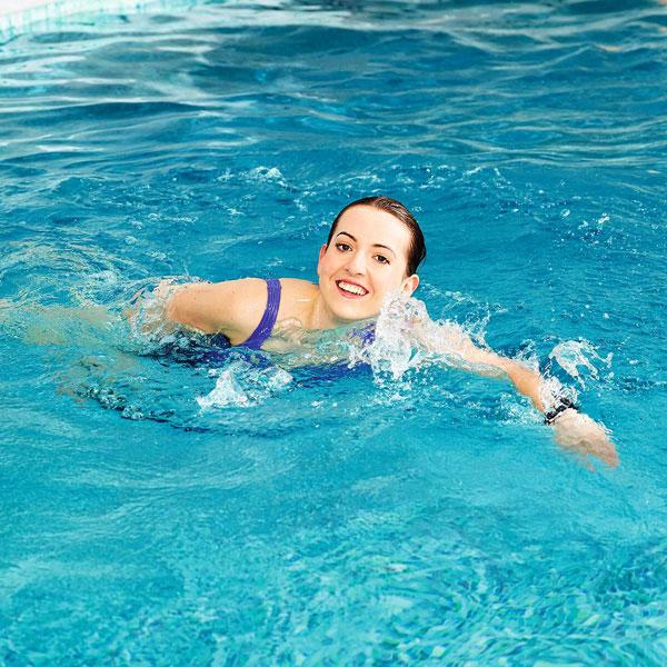 Slimming World member swimming