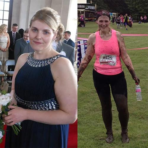 Jennifer 7st weight loss comparison-London Marathon 2021-slimming world blog