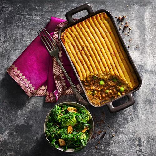 Keema cottage pie with spinach-slimming world food range