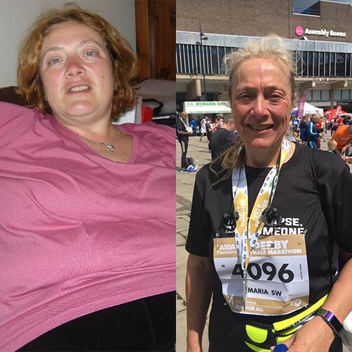 Maria 11st weight loss comparison-London Marathon 2021-slimming world blog