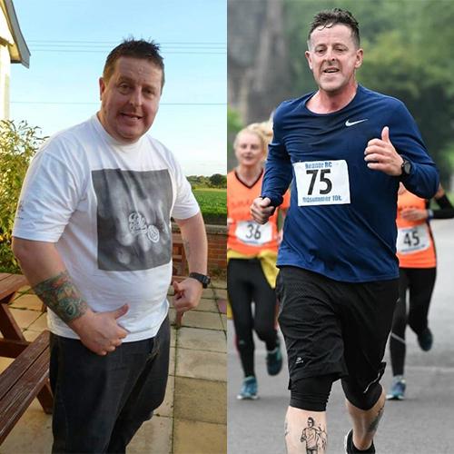 Scott 6st weight loss comparison-London Marathon 2021-slimming world blog