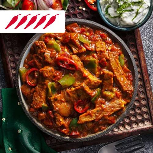Beef vindaloo in grey bowl-slimming world curry recipes